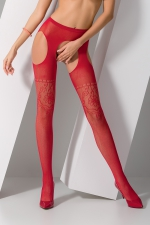 Collants ouverts S017 - Rouge