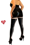 Bas latex Two tone Seamed - Bas couture en latex haute qualit� bicolore, un gainage noir soulign� de rose tendre pour sublimer vos jambes.